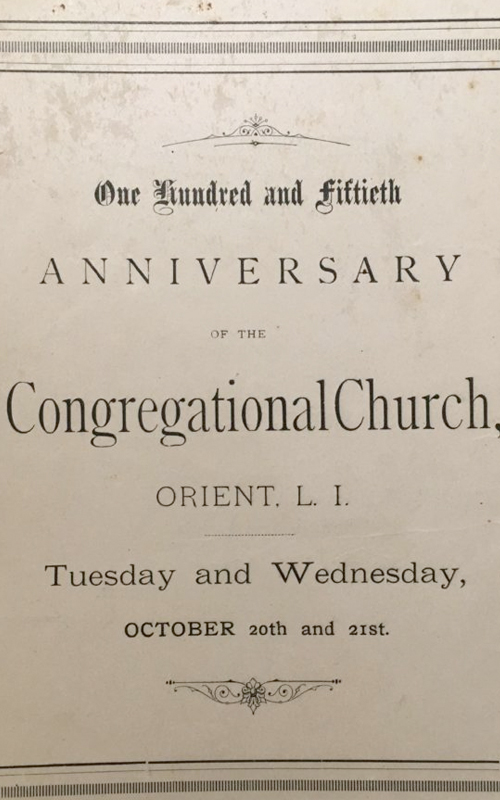 <h3>One Hundred and Fiftieth Anniversary Program</h3> <br> <p>1867</p>