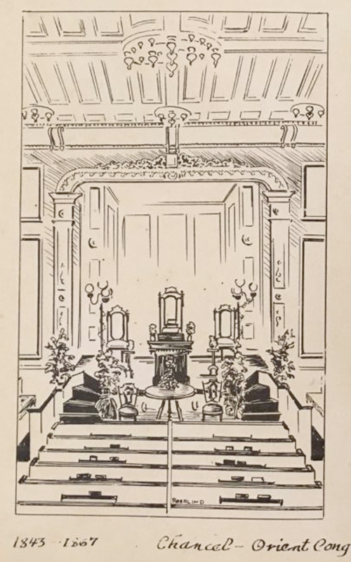 <h3>Church Interiors Drawing</h3> <p><i>Rosalind Heitzman</i></p> <br> <br> <p>Rosalind Heitzman (almost always referred to as Rosie) was a prolific artist who drew and painted many scenes of Oysterponds. She was the wife of Milton Heitzman who was pastor of the Congregational Church in Orient from 1979 to 1987. They were very popular members of the community and after retirement lived in Greenport. Sadly, they both died in a tragic automobile accident in 1997.</p>