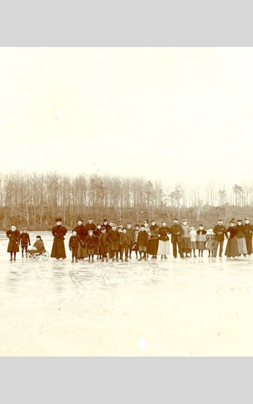 <h3>Ice Skaters on East Marion Lake</h3> <br> <p><i>Photograph by L.A. Rowley</i></p> <br> <strong>1897</strong> <br> <br> <p>This photograph of a large group of skaters on East Marion Lake was taken on Christmas Day in 1897. The photographer, Loren A. Rowley, was pastor of the East Marion Baptist Church during the 1890s. He was both a professional photographer and a minister.</p>