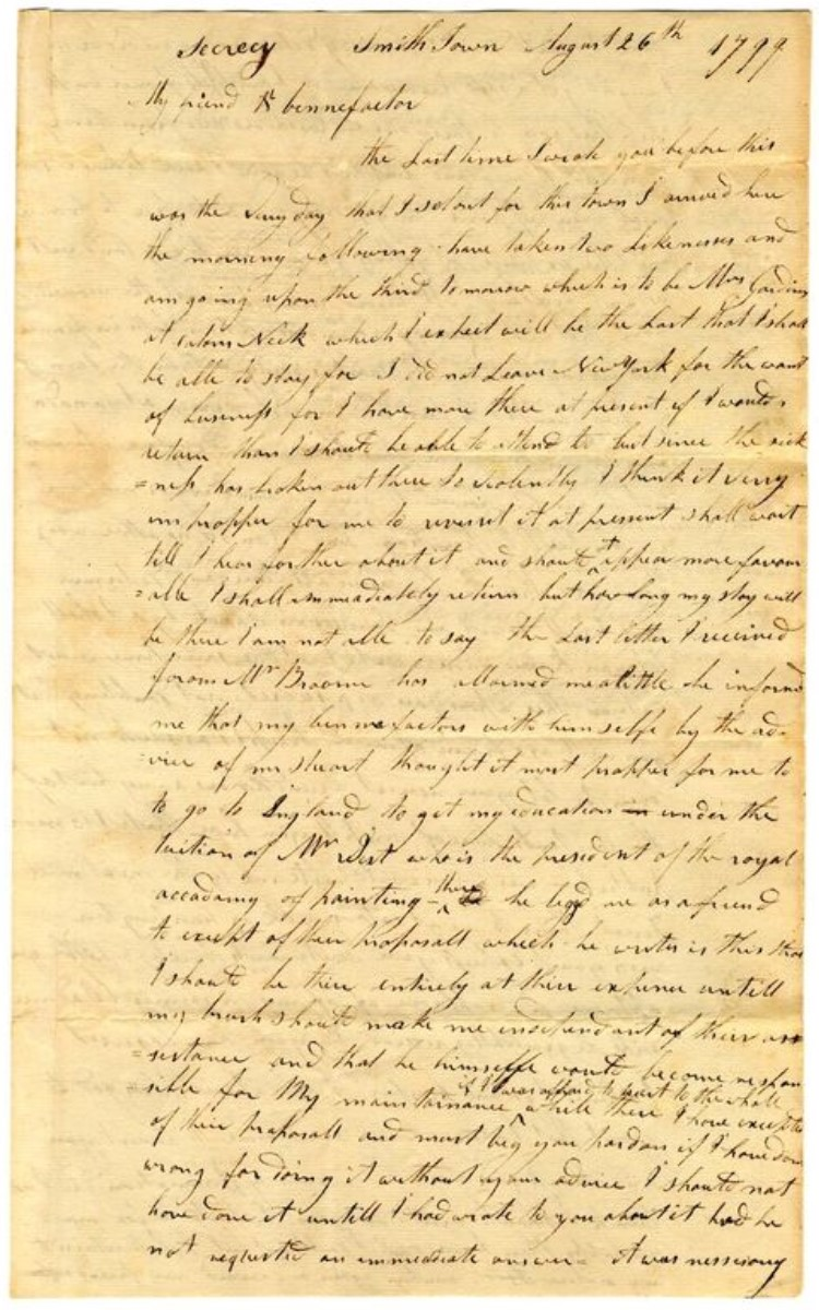 <h3>LETTER FROM ABRAHAM G.D. TUTHILL TO SYLVESTER DERING</h3>